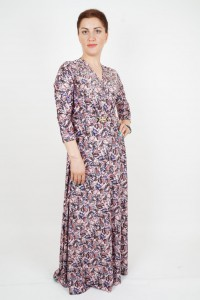 Flowered hijab dress
